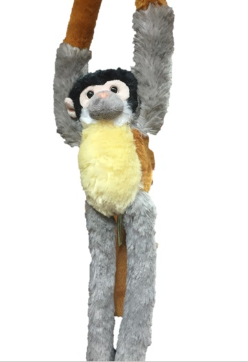 Hanging Squirrel Monkey Soft Toy Beale Park